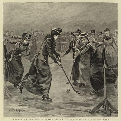 Hockey on the Ice, a Ladies' Match on the Lake in Wimbledon Park