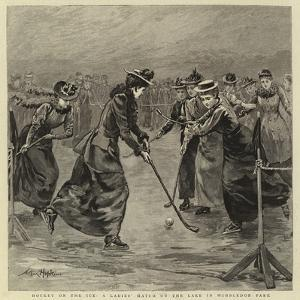Hockey on the Ice, a Ladies' Match on the Lake in Wimbledon Park by Arthur Hopkins