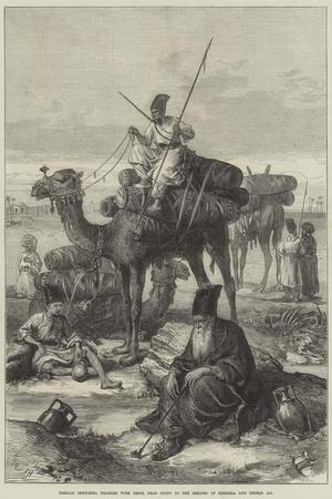 Persian Sketches, Pilgrims with their Dead Going to the Shrines of Kerbala and Meshid Ali