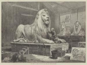 Sir Edwin Landseer Modelling the Lions for Trafalgar-Square by Arthur Hopkins