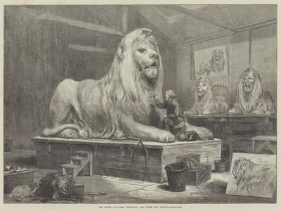 Sir Edwin Landseer Modelling the Lions for Trafalgar-Square