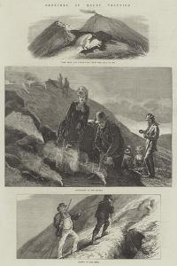 Sketches of Mount Vesuvius by Arthur Hopkins