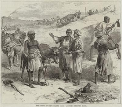 The Isthmus of Suez Maritime Canal, Labourers Removing Earth