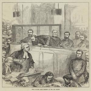 Trial of the Bank Forgers at the Old Bailey by Arthur Hopkins
