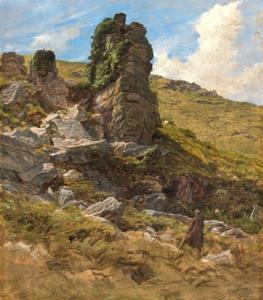 A Rocky Outcrop by Arthur Hughes