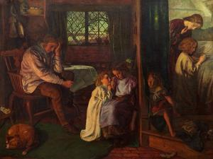 Bedtime, 1862 by Arthur Hughes