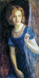 Mariana at the Window, 1865-67 by Arthur Hughes