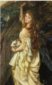 Ophelia and He Will Not Come Again, 1863-64 by Arthur Hughes