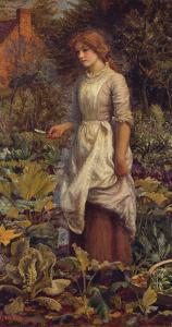 The Fair Gardener by Arthur Hughes
