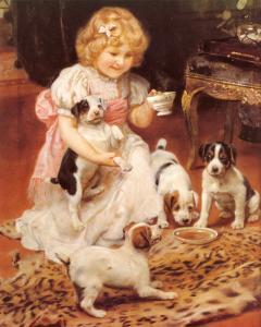 Tea-Time by Arthur John Elsley