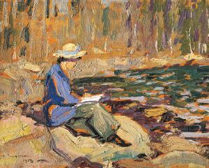 My Wife, Sackville River by Arthur Lismer