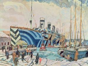 'Olympic' with Returned Soldiers 1919 by Arthur Lismer