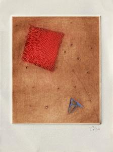 Carré rouge et triangle bleu by Arthur Luiz Piza
