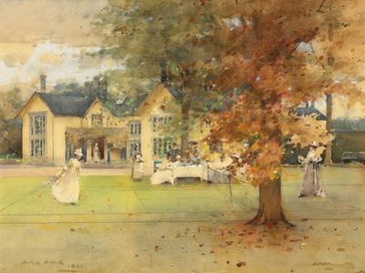 The Lawn Tennis Party at Marcus, 1889 by Arthur Melville