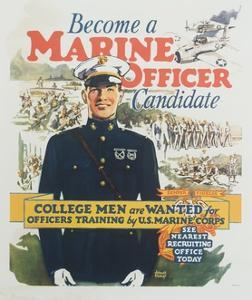 Become a Marine Officer Candidate Poster by Arthur N. Edrop