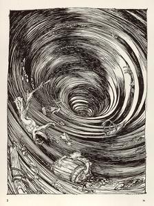 A Descent into Maelstrom by Arthur Rackham