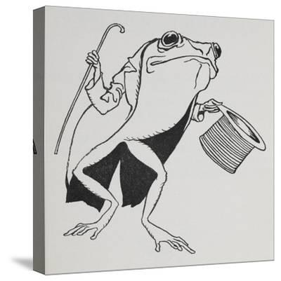 A Frog Wearing Top Hat and Tails, Carrying a Cane