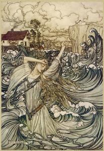 A Water Spirit by Arthur Rackham