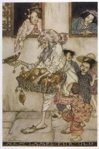 Aladdin New Lamps 1933 by Arthur Rackham