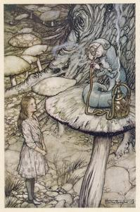 Alice and the Caterpillar by Arthur Rackham