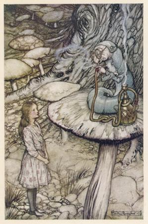 Alice and the Caterpillar by Arthur Rackham