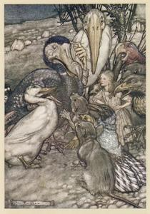 Alice and the Dodo by Arthur Rackham