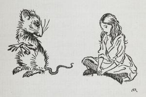 Alice and the Mouse by Arthur Rackham