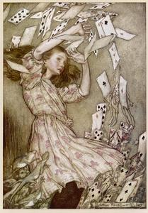 Alice: Cards Fly Up by Arthur Rackham
