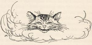 Alice: Cats Head in Cloud by Arthur Rackham