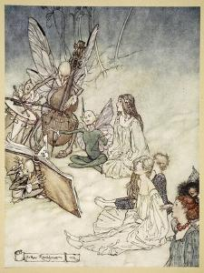 And a Fairy Song, Illustration from 'Midsummer Nights Dream' by William Shakespeare, 1908 by Arthur Rackham
