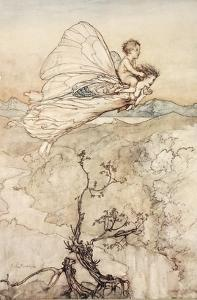 ..And Her Fairy Sent to Bear Him to My Bower in Fairy Land by Arthur Rackham
