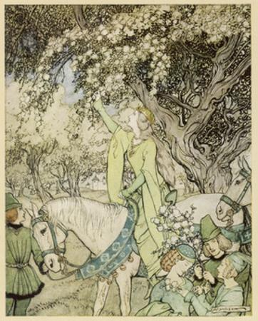 Arthurian, Guinevere by Arthur Rackham