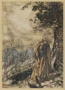 Brunnhilde Dismayedg by Arthur Rackham