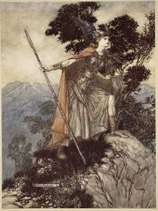 Brunnhilde, from 'The Rhinegold and the Valkyrie', 1910 by Arthur Rackham