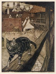 Cat and Mouse by Arthur Rackham
