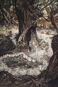 Come Now on a Roundel, Illustration from 'A Midsummer Night's Dream' by Arthur Rackham