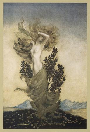 Daphne Becomes a Tree by Arthur Rackham