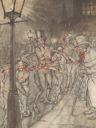 'Down a Slide at Cornhill', 1915 by Arthur Rackham