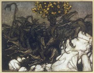 Dragon of Hesperides by Arthur Rackham