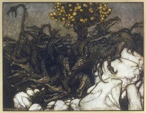 Dragon of Hesperides by Arthur Rackham