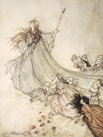 ..Fairies Away! We Shall Chide Downright, If I Longer Stay by Arthur Rackham
