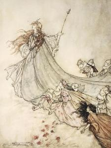 ..Fairies Away! We Shall Chide Downright, If I Longer Stay by Arthur Rackham