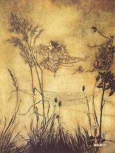 Fairy's Tightrope, 1910 by Arthur Rackham