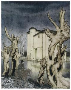 Fall of the House of Usher by Arthur Rackham