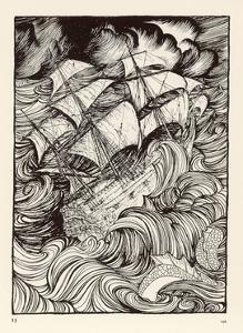 Folklore, Sea Serpent by Arthur Rackham