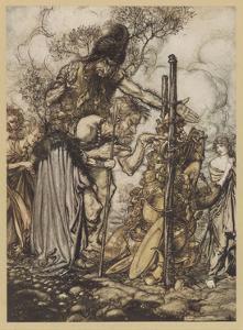 Freia Is Ransomed by Arthur Rackham