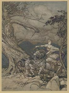 Fricka Is Angered by Arthur Rackham