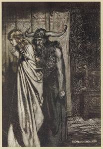 Hagen and Brunnhilde by Arthur Rackham