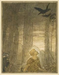 Hagen and Siegfried by Arthur Rackham