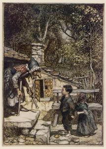 Hansel and Gretel, Meet Witch by Arthur Rackham